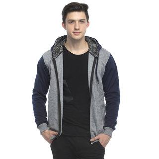 Lambency Men's Grey Hooded Sweatshirt