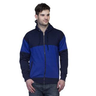 Lambency Men's Blue Hooded Sweatshirt