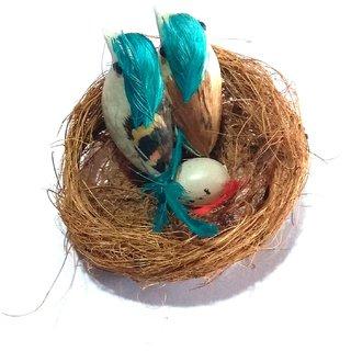 Nawani Coir Craft Table Decor Hanging Bird Nest Size- 9x9x3