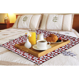 Dream Care Printed Waterproof & Oilproof Square Bed Server/Food Mat