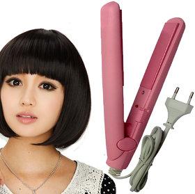 Professional Mini 18cm Solid Ceramic Travel Hair Straightener Beard Hair Flat Iron Salon Style Tool 18W