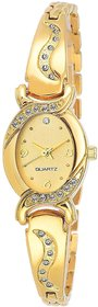 AMINO LADIES-901 GOLD DIAL NEW ARRIVAL ANALOG BANGLEWATCH FOR GIRLS AND WOMEN