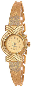 AMINO LADIES-902 GOLD DIAL NEW ARRIVAL BANGLE ANALOG WATCH FOR GIRLS AND WOMEN