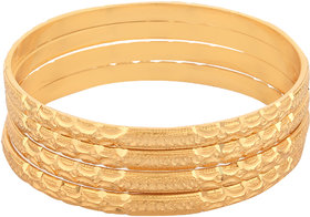 Shine Art Gold Plated Traditional Unique Fancy Designer Bangles  Cada set of 4pcs for women.( All Size Available)