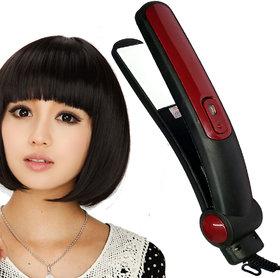 Professional Solid Ceramic Travel Hair Straightener Flat Iron Salon Style Hair Styler Tool 45W