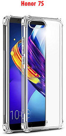 Honor 7S   -  Anti-Knock Design Shock Absorbent Bumper Corners Soft Silicone Transparent Back Cover For Honor 7S