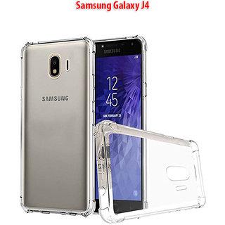 Samsung Galaxy J4 - Anti-Knock Design Shock Absorbent Bumper Corners Soft Silicone Transparent Back Cover for SAMSUNG J4