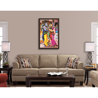 Crafttrip ram sita Images Sand Stone Painting (UV Print Canvas 3 feet x 2 Feet 13.5 Square Feet 90 x 60 cm)
