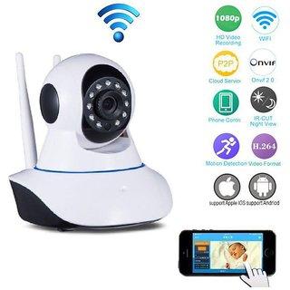 Deals e Unique CCTV Wireless Camera Dual Antenna CCTV Surveillance Camera Wi-Fi PTZ 1280 x 720 Camera Night Vision