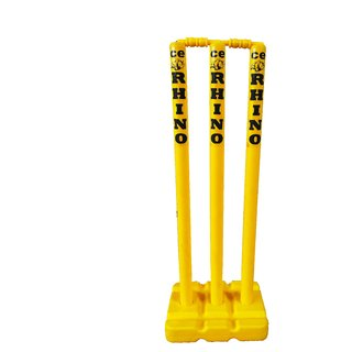CE Rhino Plastic Moulded Cricket Stump Set (Yellow)