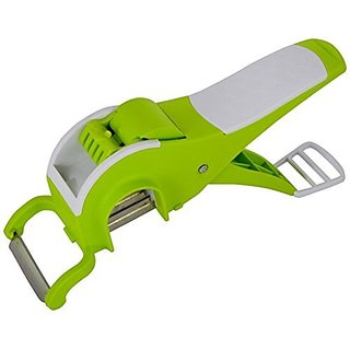 Vegetable Cutter, Mirchi Cutter With Lock System, Peeler With Slicer(Random Color) Sold By Evershine Gifts And Household