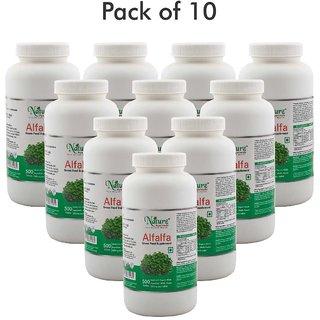 Naturz Ayurveda Alfalfa 500 Tablets (Pack of 10)