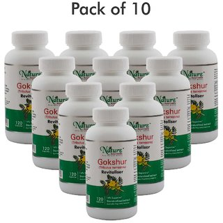 Naturz Ayurveda Gokshur 120 capsules - Pack of 10