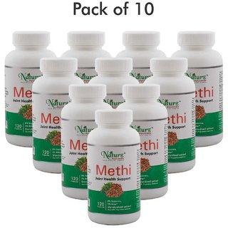 Naturz Ayurveda Methi 120 capsules - Pack of 10