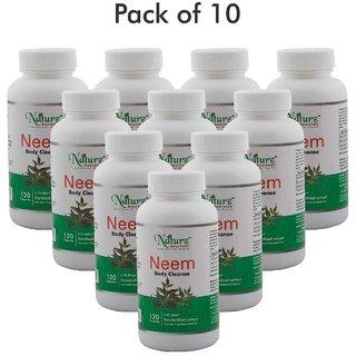 Naturz Ayurveda Neem 120 capsules - Pack of 10