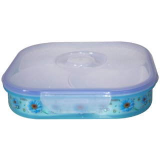WONDER MAMTA Air Tight Dry Fruit/Sweets Serving Box Container 4 Partition Gift Pack (1 PC.)