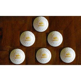 CE Rhino Dimple Silver Hockey Turf Ball (White) - Box of 6 Balls