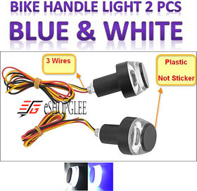 Eshopglee Motorcycle DRL Turn Signal LED Light Blinker Indicator Lights Handle Bar End LED Bulbs Pack of 1