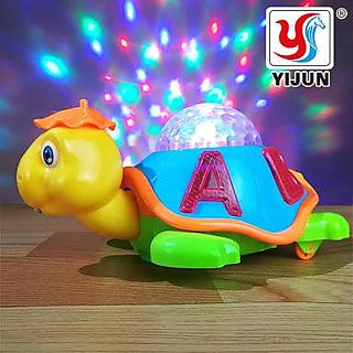 Battery Operated Baby / Kids Toy , Bump N Go Animal Toy with 3D Flashing Lights and Music