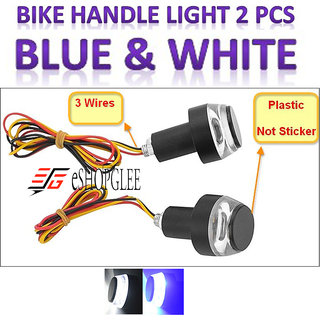 ESHOPGLEE Bike Handlebar /Turn Signal LED Light/Blinker Indicator Handle Bar Indicator LED Light 2 PC (BLUE)