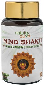 Nature Sure Mind Shakti Tablets with Natural Herbs  1 Pack (60 Tablets)