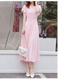 WC-073 Westchic PINK AZIZA Long Dress