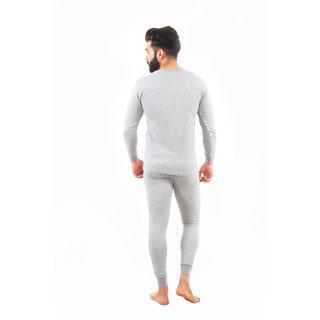bfa9dd34d7d Buy Yorker Grey Top   Bottom Thermal Set For Men Combo Pack Of -2 Online -  Get 44% Off