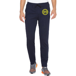 Cliths Mens Printed Navy Blue Dri Fit Tights Trackpants for Yoga Gym and Active Sports Fitness