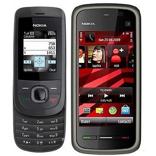 Refurbished Nokia 2220 And Nokia 5233 / Good Condition / Certified Pre Owned