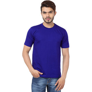 Funky Guys Royalblue Round Neck Slim Fit Tshirt