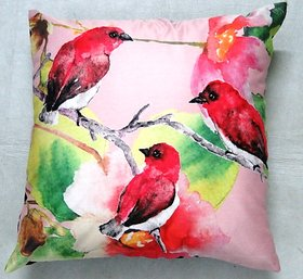 Valtellina Satin Digital Premium Cushion Cover (Set of 1)