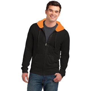 Visutra Branded Zipper hooded sweatshirt