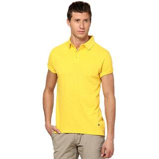 Funky Guys Yellow Polo Neck Slim Fit Tshirt