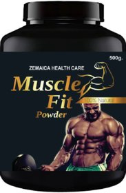 Muscle Fit Herbal Powder For Weight & Muscle Gain (500Gm Powder) Pack Of 1