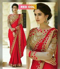 Bhavna Creation's Red Silk Saree