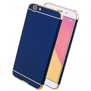 Imperium Luxury 3in1 Electroplated Hard PC Back (Matte Finish) Case Cover for Oppo  F1s