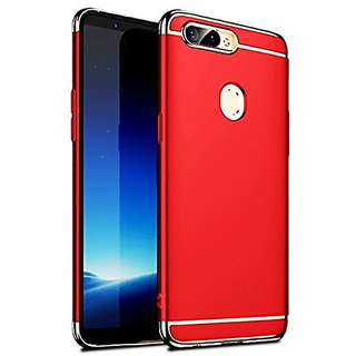 Imperium Luxury 3in1 Electroplated Hard PC Back (Matte Finish) Case Cover for Oppo  F9 Pro