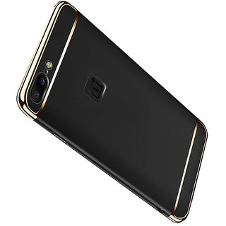 Imperium Luxury 3in1 Electroplated Hard PC Back (Matte Finish) Case Cover for OnePLus  5