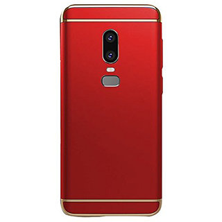 Imperium Luxury 3in1 Electroplated Hard PC Back (Matte Finish) Case Cover for OnePLus  6