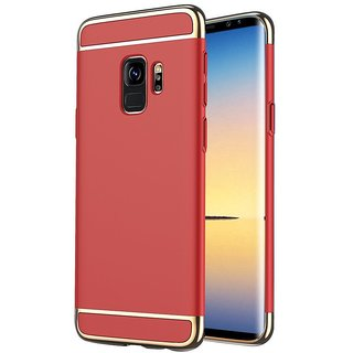 Imperium Luxury 3in1 Electroplated Hard PC Back (Matte Finish) Case Cover for Samsung   Galaxy S9