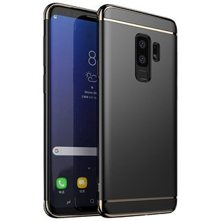 Imperium Luxury 3in1 Electroplated Hard PC Back (Matte Finish) Case Cover for Samsung   Galaxy S9 Plus
