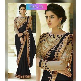 Bhavna Creation'S Black Silk Saree