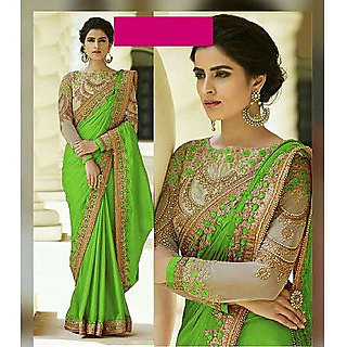 Bhavna Creation'S  Green Silk Saree