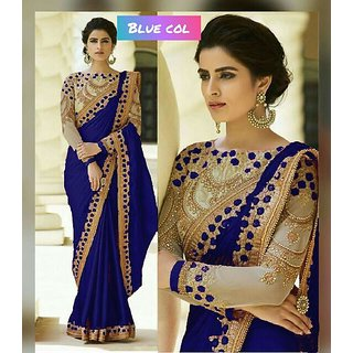Bhavna Creation's Blue Silk Saree