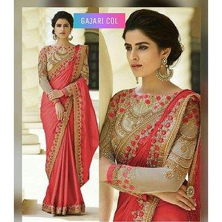 Bhavna Creation's Gajari Silk Saree