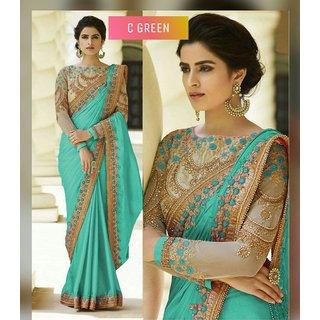 Bhavna Creation's C Green Silk Saree
