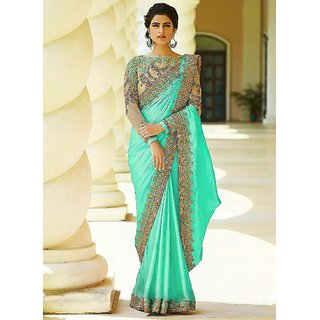 Bhavna Creation'S C Green Silk Saree