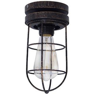 Fos Lighting Industrical Vintage Flush Mount Ceiling Lamp