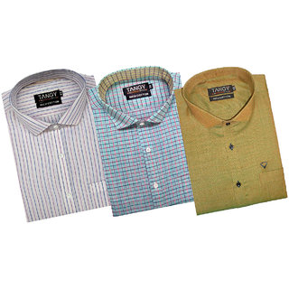Pack of 3 Full Sleeves Mens Wear Shirt