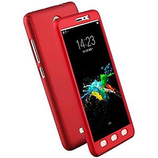 iPacky 360 Full protection front & back cover case with screen Tempered Glass for Samsung Galaxy Note 2 ( RED )
